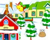 Pou decorated winter