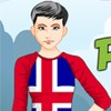 Peppy Patriotic Iceland Girl